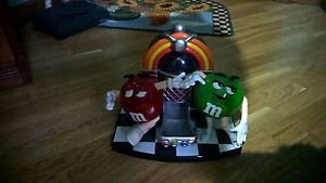 Original M&M Candy Jukebox Dispenser With Red And Green M & Ms