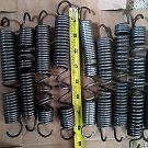 9 Used Stretched Trampoline Springs Varying Sizes