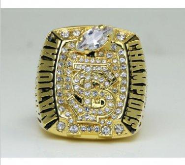 2013 NCAA Florida state Seminoles BCS national championship ring 8-14S to choose