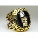 1985 Los Angeles Lakers National Bakstball Championship Ring 10 Size