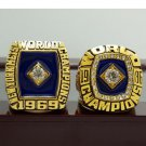 One Set 2PCS 1969 1986 New York Mets MLB World Seires Championship Ring 7-15 Size