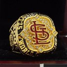 2006 St. Louis Cardinals MLB World Seires Championship Ring 7-15 Size Copper Solid Engraved Inside