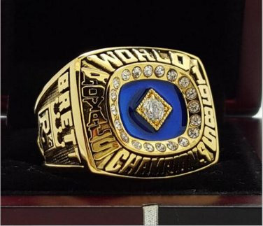 1985 Kansas City Royals MLB World Seires Championship Ring 7-15 Size Copper Solid Engraved Inside