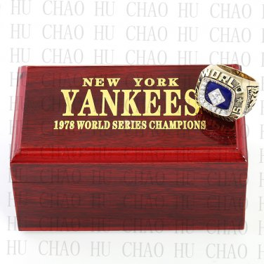 1978 MLB New York Yankees World Series Championship Ring 10-13Size  With High Quality Wooden Box