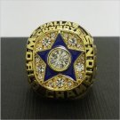 NFL 1971 Dallas Cowboys Football Super Bowl World Championship Ring 11Size 'Staubach' Fans Back