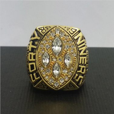 1989 San Francisco 49ers Football Super Bowl World Championship Ring 11Size 'Montana' Fans Back Gift