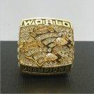 1998 Denver Broncos Football Super Bowl World Championship Ring 11Size 'Elway' Fans  Back Gift