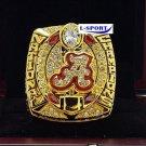 2015 -2016Alabama Crimson Tide NCAA National Championship Rings SABAN 9 S copper solid ring