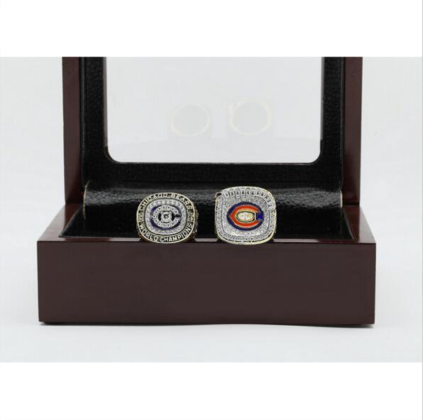 1985 And 2006 Chicago Bears Super Bowl Football Championship Ring Nice Gift For fan Size 12