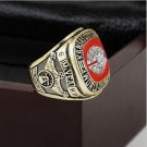 1969 Kansas City Chiefs NFL Super Bowl Championship Ring 10-13 size with cherry wooden case as a