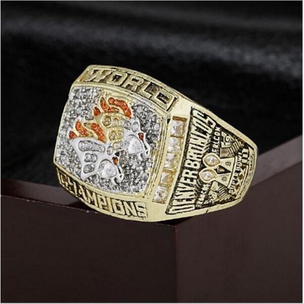 1998 Denver Broncos NFL Super Bowl FOOTBALL Championship Ring 10-13 size