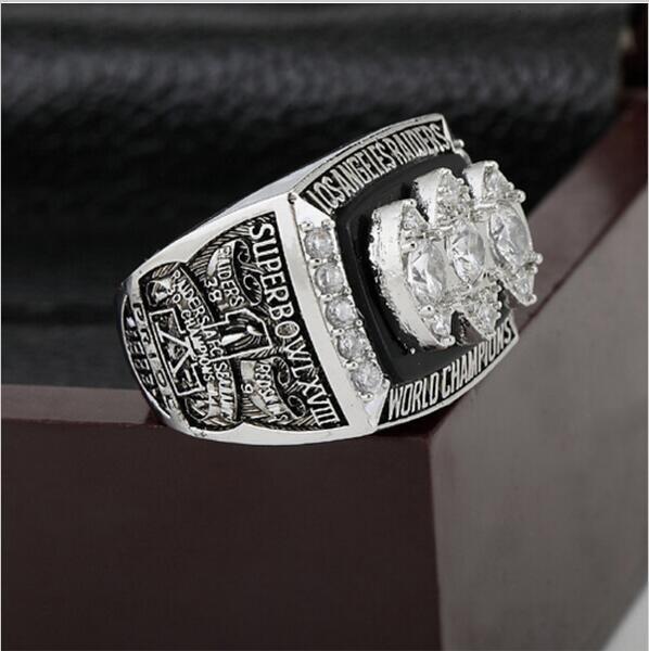 1983 NFL Los Angeles Raiders XVIII Super Bowl Football Championship Ring Size 12