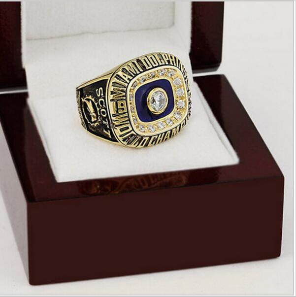 1972 Miami Dolphins Super Bowl Football Championship Ring Size 10  With High Quality Wooden Box
