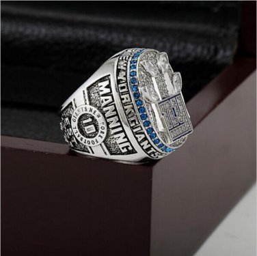 2011 New York Giants  Super Bowl Football Championship Ring Size 11  With High Quality Wooden Box