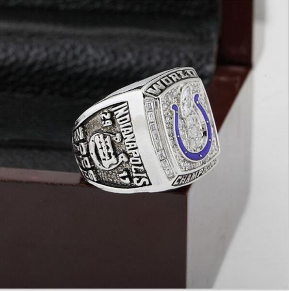 2006 Indianapolis Colts XLI Super Bowl  Championship Ring Size 12  With High Quality Wooden Box