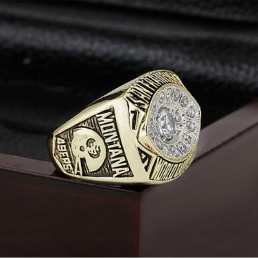 1981 NFL San  49ers  Super Bowl Football Championship Ring Size 10-13 With High Quality Wooden Box