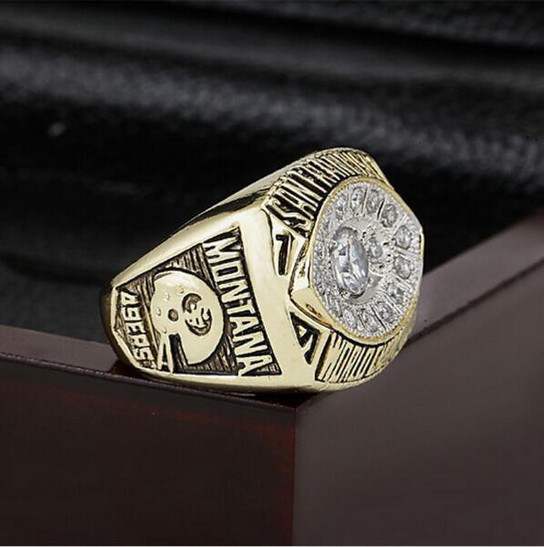1981 NFL San  49ers  Super Bowl Football Championship Ring Size 10  With High Quality Wooden Box