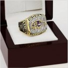 2000 Baltimore Ravens Super Bowl Football Championship Ring Size 10-13 With High Quality Wooden Box