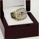 2000 Baltimore Ravens Super Bowl Football Championship Ring Size 10 With High Quality Wooden Box