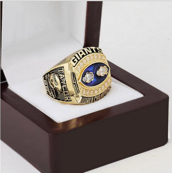 1990 New York Giants Super Bowl Football Championship Ring Size 10-13 With High Quality Wooden Box