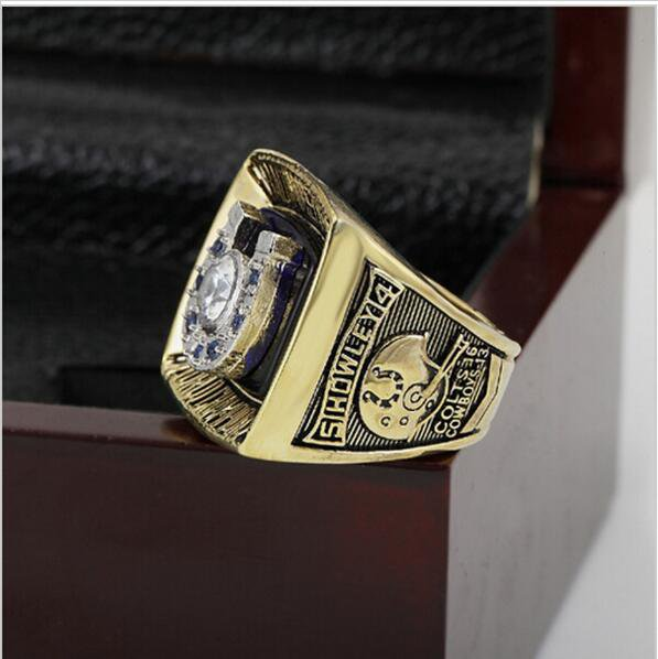 1970 BALTIMORE COLTS Super Bowl Football Championship Ring Size 11 With High Quality Wooden Box