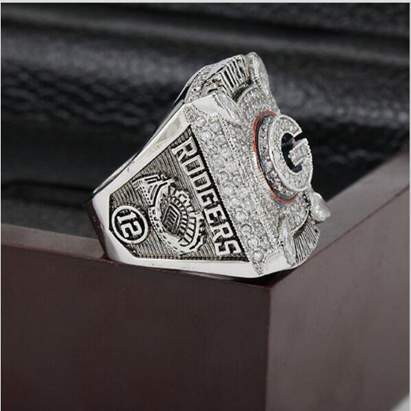 2010 Green Bay Packers Super Bowl Football Championship Ring Size 13  With High Quality Wooden Box