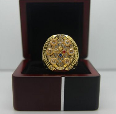 2008 Pittsburgh Steelers super bowl Championship Ring 14  Size  solid Strong wooden case