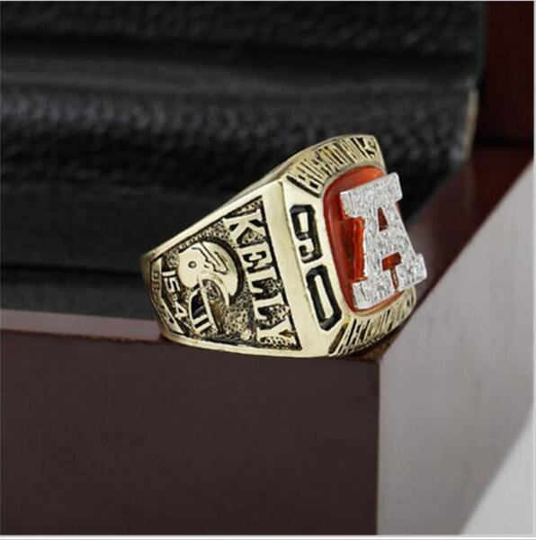 1991 Buffalo Bills AFC FOOTBALL Championship Ring 12 size with cherry wooden case as a gift