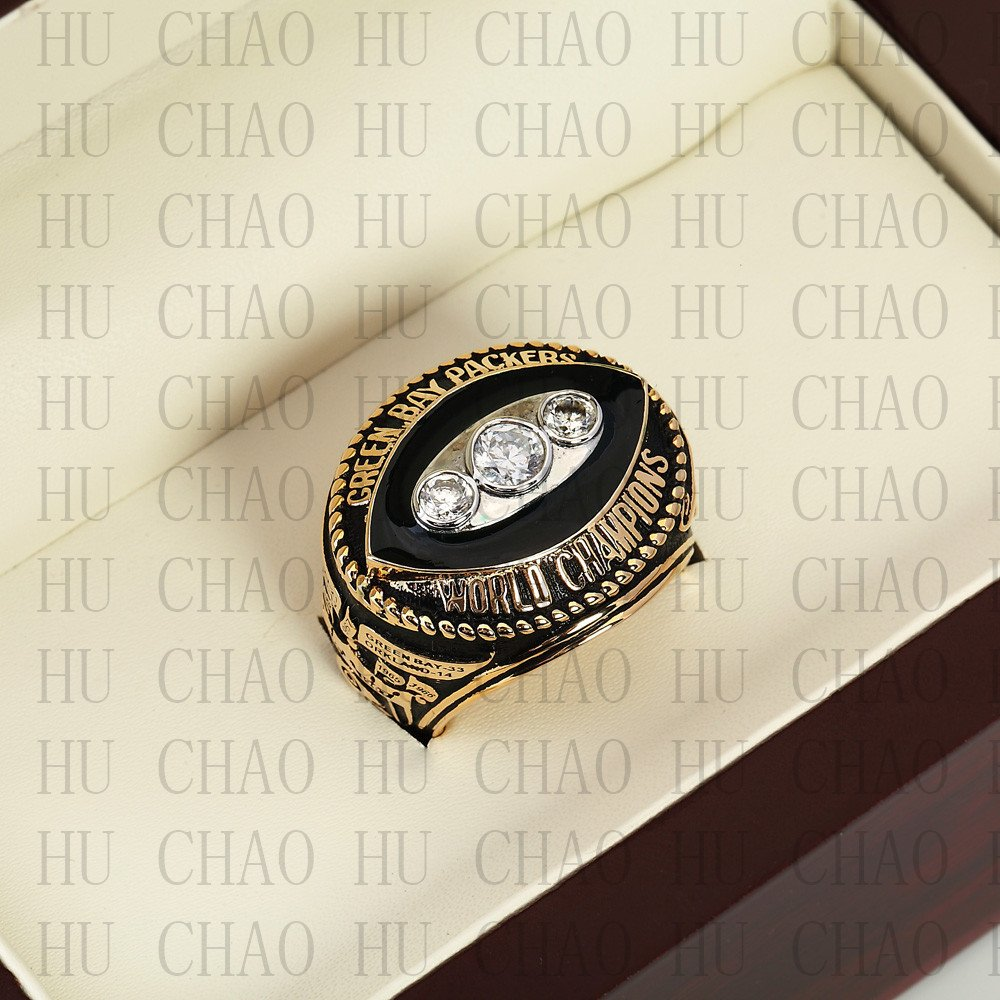 1967 Green Bay Packers Super Bowl Championship Ring 10-13 Size  With High Quality Wooden Box