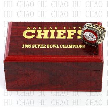 Year 1969 Kansas City Chiefs Super Bowl Championship Ring 13 Size DAWSON Fans Gift
