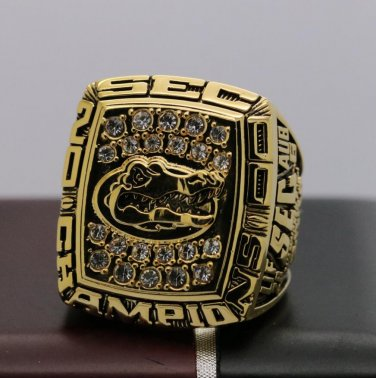 2000 FLORIDA GATORS SEC NCAA FOOTBALL National Championship Ring 8 Size COPPER SOLID ONE
