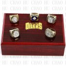 1984 1985 1987 1988 1990 Edmonton Oilers Stanley Cup Championship Ring With Wooden Box