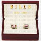 One set (2PCS) 1991 1993 Buffalo Bills American Football Championship Ring With Wooden Box