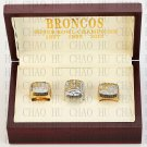 1997 1998 2015 Denver Broncos Super Bowl Championship Ring With Wooden Box