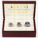 2004 2007 2013 Boston Red Sox World Series Championship Ring With Wooden Box