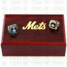 1969 1986 New York Mets World Series Championship Ring With Wooden Box Replica Rings LUKENI