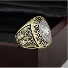 1985 EDMONTON OILERS NHL Hockey Stanely Cup Championship Ring 10-13 size with cherry wooden case