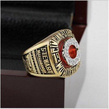 1990 Cincinnati Reds MLB World Series Baseball Championship Ring Size 10-13 With Wooden Box