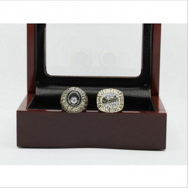 1970 And 1983 BALTIMORE ORIOLES WORLD SERIES Championship Ring Size 10-13 With Wooden Box