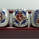 One Set 3 PCS 2004 2007 2013 Boston Red Sox MLB World Seires Championship Ring 7-15 Size