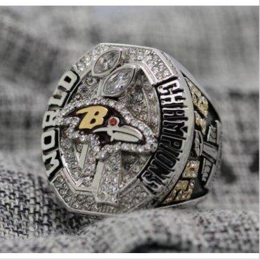 REPLICA 2012 Super bowl XLVII CHAMPIONSHIP RING Baltimore Ravens 7-15 Size Copper Engraved Inside