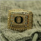 2009 Oregon Ducks PAC 10 NCAA National Championship Ring 7-15 Size COPPER SOLID Engraved Inside