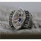 2004 New England Patriots NFL Super Bowl FOOTBALL Championship Ring 7-15 Size