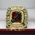 2016 2017 Alabama Crimson Tide SEC COLLEAGUE National Championship Ring 7-15 Size