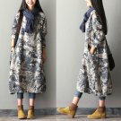 Women Loose Fit Printing Dress