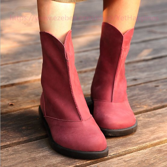 Women Vintage Leather Boots