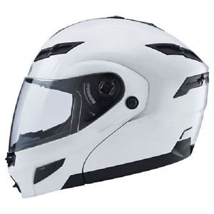 Small S GMax GM54S Pearl White LED Modular Motorcycle Helmet