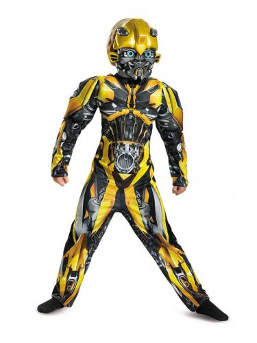 Size 4-6 TRANSFORMERS - BUMBLEBEE MUSCLE COSTUME FOR CHILDREN  SWWHC883065