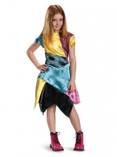 Size 7-8 NIGHTMARE BEFORE CHRISTMAS SALLY CLASSIC COSTUME FOR CHILDREN  SWWHC810037