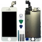 White LCD Full Assembly Lens Touch Screen Digitizer Replacement for Apple iPhone 5S